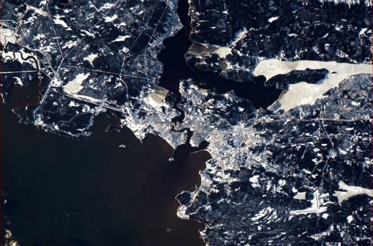 Saint John, New Brunswick Taken from the International Space Station, by Col. Chris Hadfield.