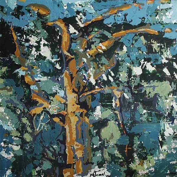 Gövde, 2014, Tuval Bezi Üzeri Yağlı boya, 70x70cm