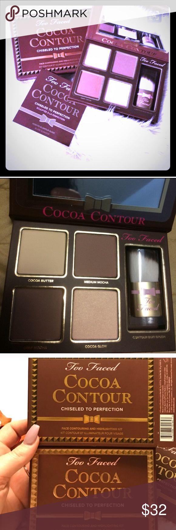 PRICE FIRM! Too Faced😍 Cocoa Contouring Kit This beautifully crafted cocoa-scented contouring palette, in Medium To Dark shade,  defines the natural curvatures of your face with a delectable chocolate scent finish!! THIS IS BRAND NEW, NEVER OPENED (ONLY FOR PICS) AND NEVER USED! UNTOUCHED! 100% AUTHENTIC! Courtesy of my aunt, SSA at Sephora!! Too Faced Makeup Face Powder