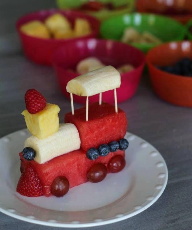 Trenino di frutta fresca