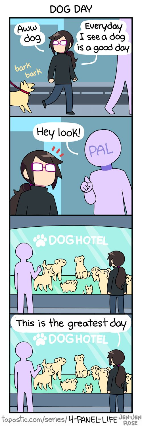 """Check out the comic """"4-Panel Life :: DOG DAY"""" http://tapastic.com/episode/104396"""