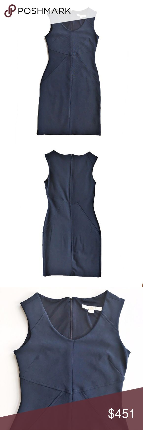 Boston Proper navy body con dress Gorgeous figure hugging body con dress in navy blue, size 4 from Boston Proper. Like new condition. Boston Proper Dresses Mini
