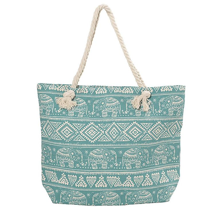 FABRIC BEACHBAG IN MINT COLOR 52X15X40/75 - Bags