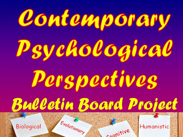 Contemporary Psychological Perspectives Bulletin Board Project  Your Psychology students will have fun creating a billboard for one of the following contemporary psychological perspectives:  Biological  Evolutionary  Cognitive  Humanistic  Psychoanalytic  Learning  Socio-cultural