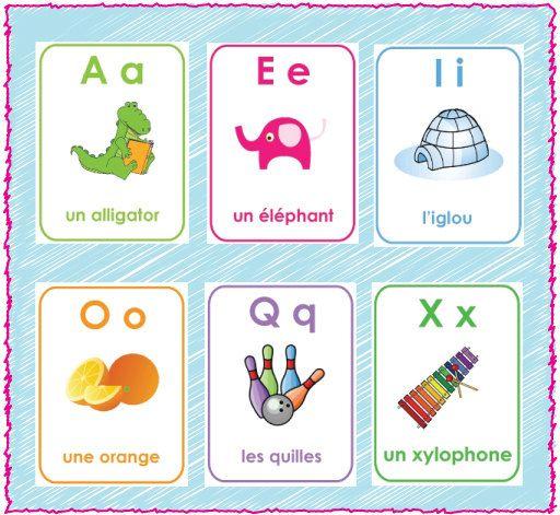 Printable French Alphabet Flash Cards - A-Z