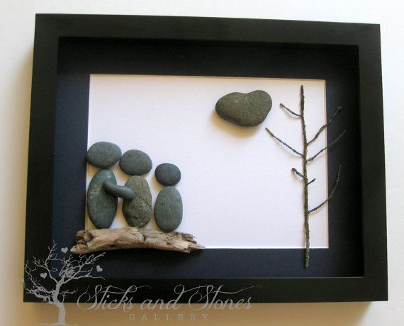Personalized Family Present - Custom Stone Art Work - Pebble Art - Handmade Gifts on Etsy, $80.00 CAD