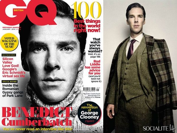 Benedict Cumberbatch Covers GQ UK