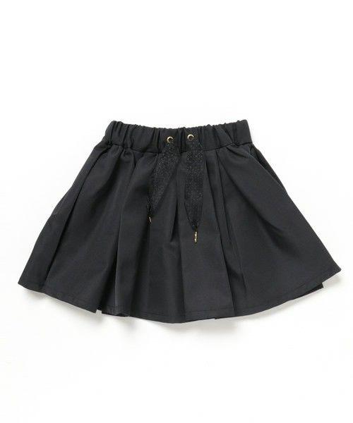 COMECHATTO&CLOSET(カムチャットアンドクロゼット)のタックギャザースカート(スカート)|ブラック