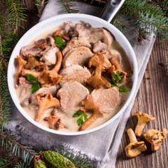 Filet mignon de porc aux girolles , aimez vous les champignons sauvages ?
