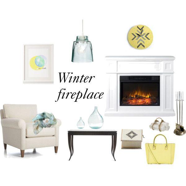 """""""Winter fireplace"""" by nagy-veronika on Polyvore"""