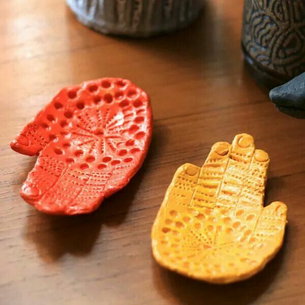 From the artful parent -  ceramic hand dish