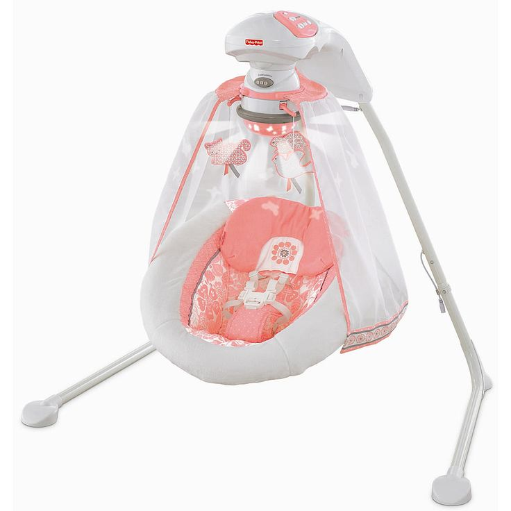 Fisher Price Deluxe Cradle Swing - Coral Floral - Fisher-Price - Babies R Us