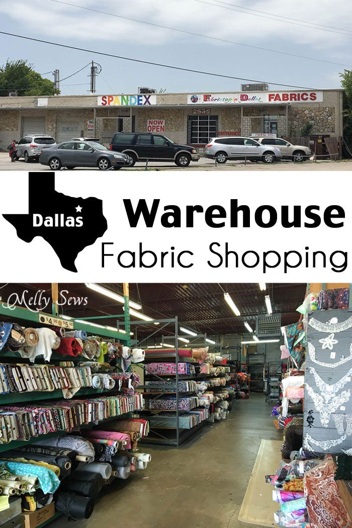 Warehouse Fabric Shopping in Dallas - a Guide to Inexpensive Fabric - Melly Sews