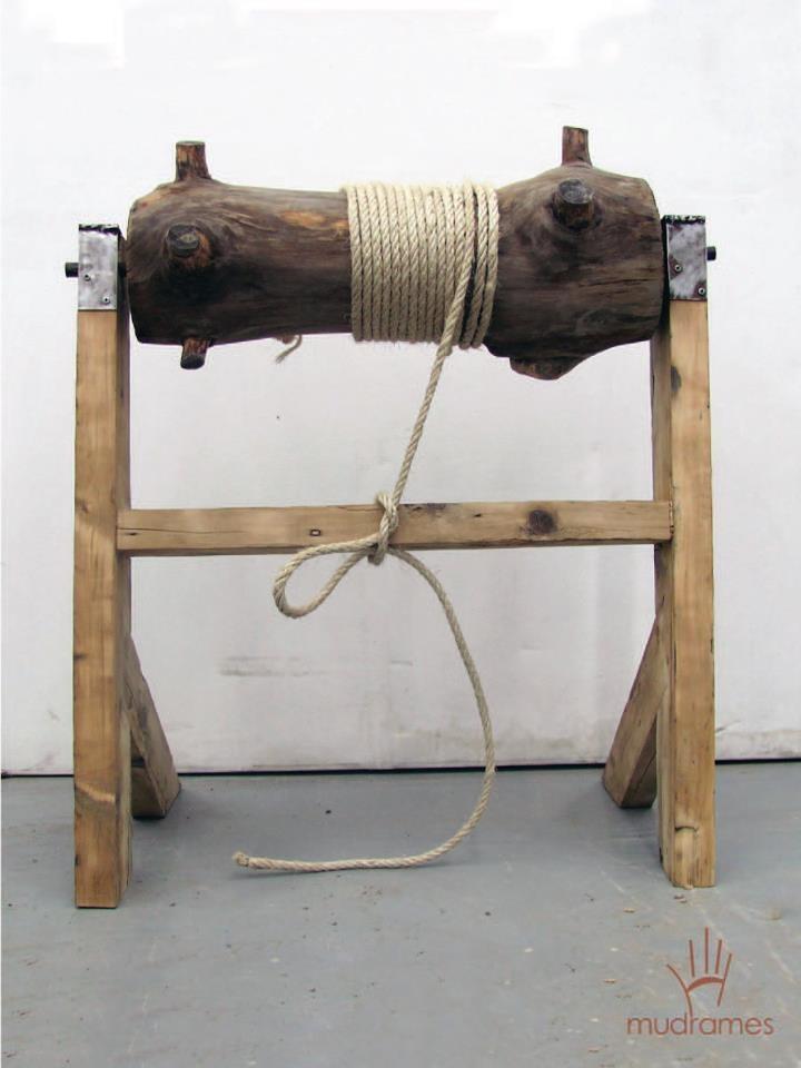 Wooden sculpture h= 60cm