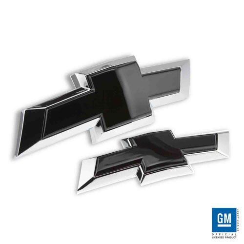 This Chevy Bowtie will insert into the factory installed bezel The front Bowtie grille emblem and the Rear emblem This easytoinstall product is machined from solid aircraft grade aluminum precision machined and powder coated