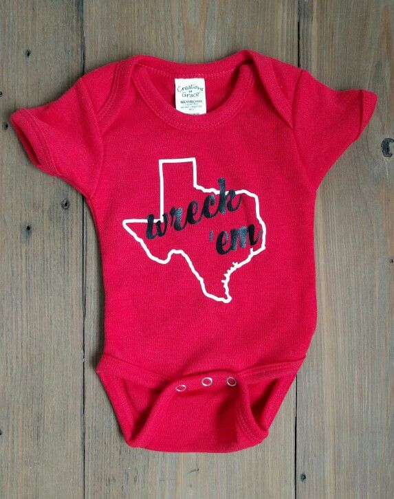 Texas Tech Wreck 'Em Onesie by Nadimi Empire