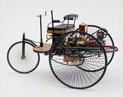 This is the Benz Patent Motorwagon. Thisisfirst car ever invented.  By Karl Benz in 1885.