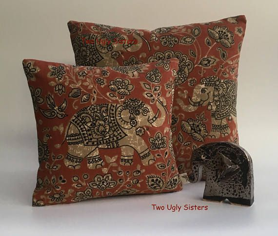 Elephant Pillow Elephant Gift Cushion Cover Elephant Print