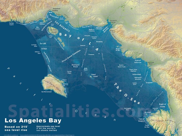 Sea Level Rise Maps: Los Angeles Bay