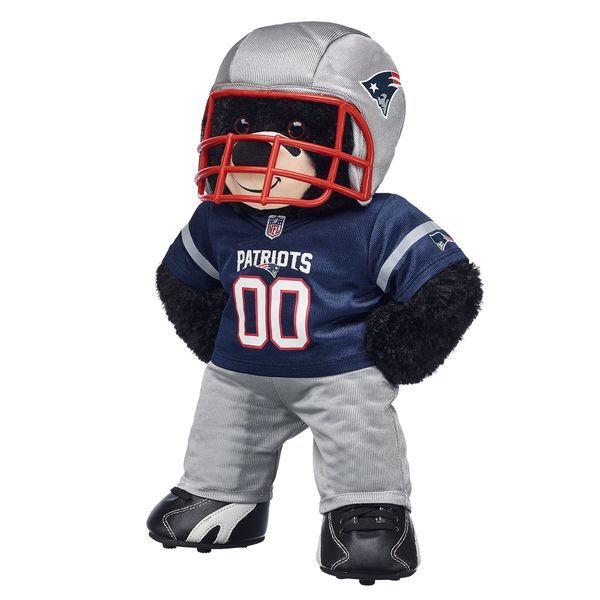 Build a Bear Workshop Football Uniform Helmet Jersey NEW ENGLAND PATRIOTS