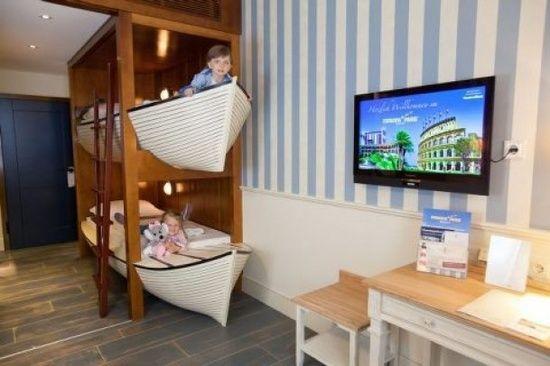 Chambre d enfant un lit superpos original loulous - Comment fabriquer un lit superpose ...
