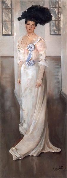 Portrait of Countess M Keller 1902 Painting by Leon Bakst | Oil Painting