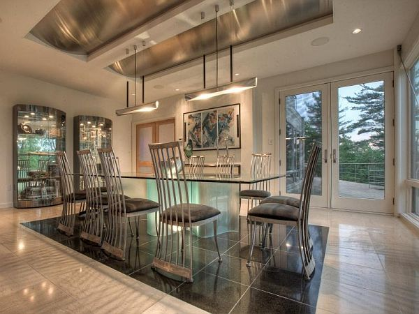 contemporary-property-in-Ipswich-dining-table Luxurious And Contemporary In The Same Time Heartbreak Hill Family Home