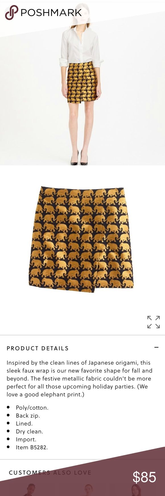J crew origami skirt in elephant parade Never worn. No trades.  Price is firm unless bundled. J. Crew Skirts Mini