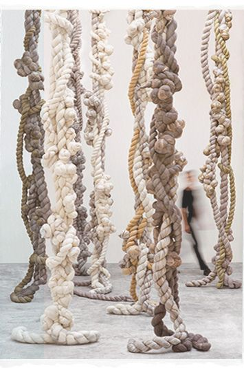 gorgeous ropey knotty sculptural things by Dana Barnes Studio