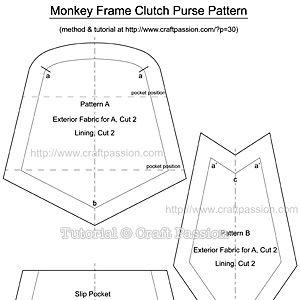 Sew | Metal Closure Frame Purse | Free Pattern & Tutorial at CraftPassion.com - Part 2