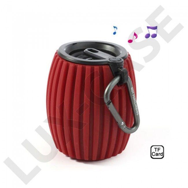 Hand Grenade (Rød) Trådløs Bluetooth Høyttaler m/ Mikrofon - GRATIS FRAKT!