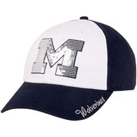 Michigan Wolverines Ladies Sparkle Adjustable Hat