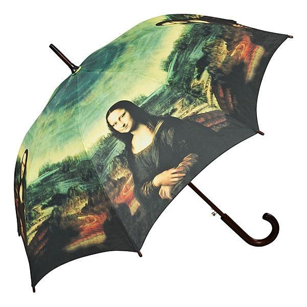 "Automatic umbrella Leonardo da Vinci ""Mona Lisa"" ❤ http://www.beimjupiter.com/Media/Shop/5574a_az1.jpg"