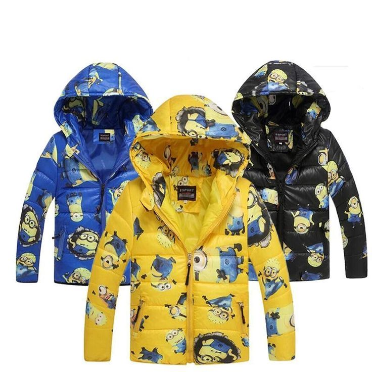 11.65$  Watch here - http://alihce.shopchina.info/go.php?t=32693754341 - Minion Jacket Kids Down Jacket For Boy Baby Minion Clothes Winter Down Coat Warm Baby Snowsuit Children Girl Hooded Short Coat  #magazineonline