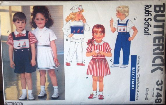 Butterick 3748 Ruth Scharf pattern for boys & by VictorianWardrobe, $4.00