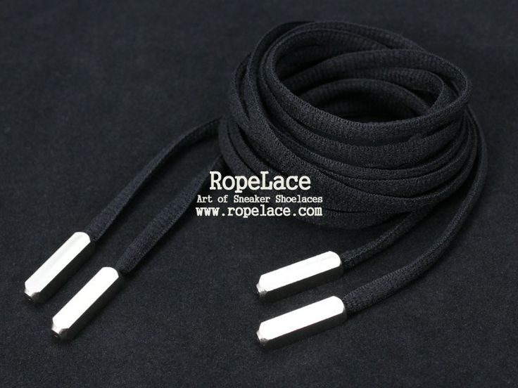 Black Yeezy Lace with Silver Metal Tips   RopeLace buy at www.ropelace.com #AirYeezy