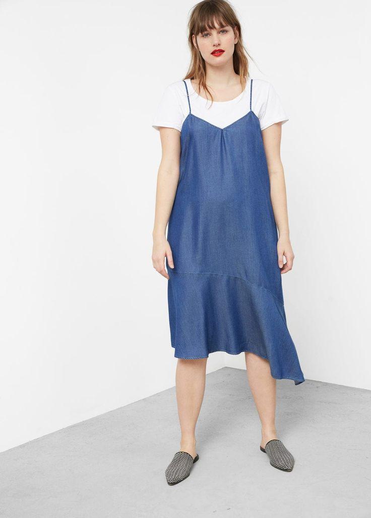 Frills denim dress   VIOLETA BY MANGO