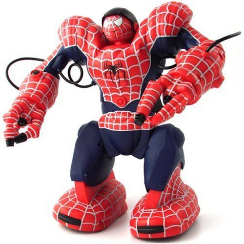 WowWee Spidersapien Spiderman Robosapien Robot RC Remote Control Humanoid Robotic Toy @ niftywarehouse.com #NiftyWarehouse #Spiderman #Marvel #ComicBooks #TheAvengers #Avengers #Comics