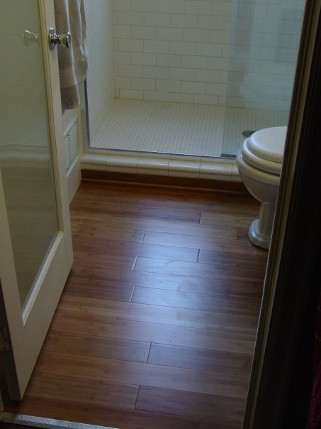 Pin by dave randall on projects done by dmr construction - Bamboo flooring in kitchen and bathroom ...