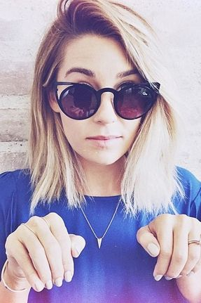 Lauren Conrad Hairstyles - Medium Straight Hair. hairenvy blonde gorgeoushair hairstyle blowoutbar