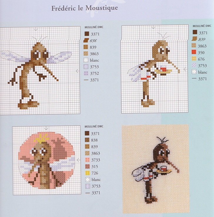 Les 39 meilleures images du tableau drole de betes aux point de croix sur pinterest droles de - Frederic le moustique ...
