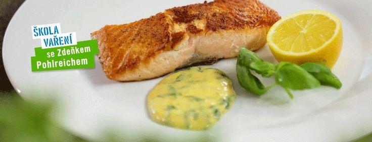 Škola vaření: Holandská omáčka a losos krok po kroku