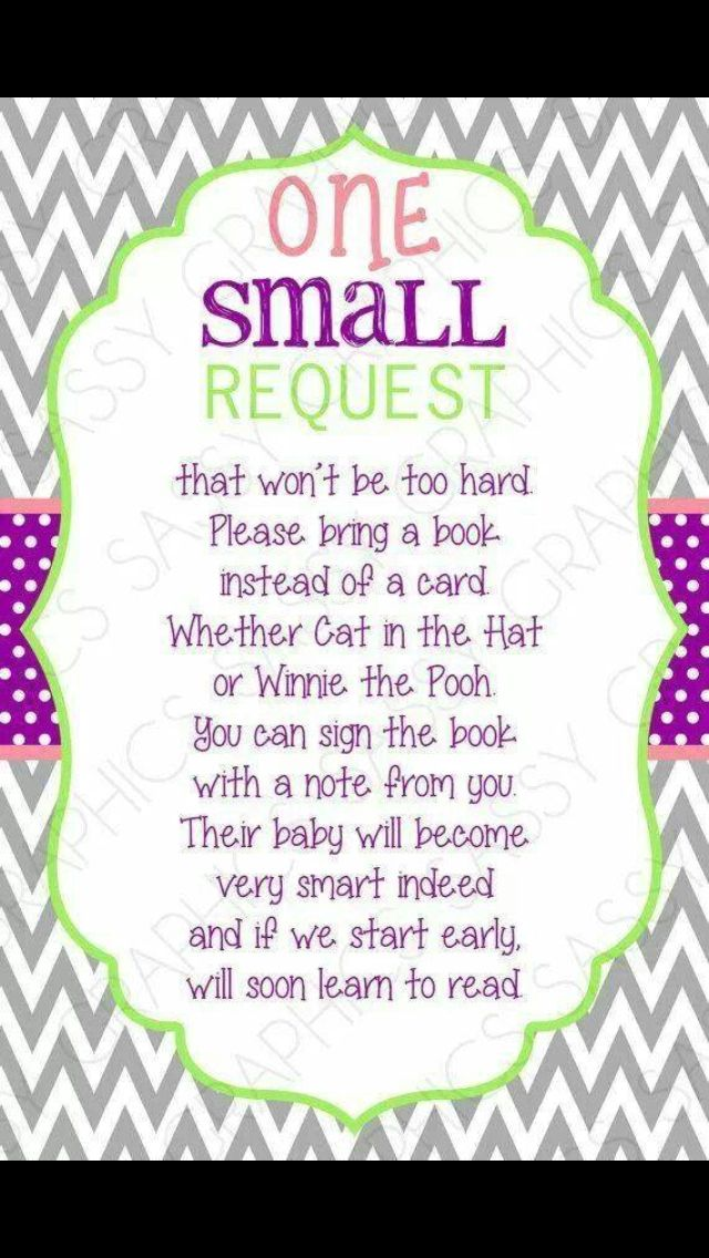 Bring A Book Card   Instead Of A Card One Small Request Chevron Purple  Green Pink Bring A Book Instant Download DIY Insert PDF (Item #4). Baby  Shower Idea.