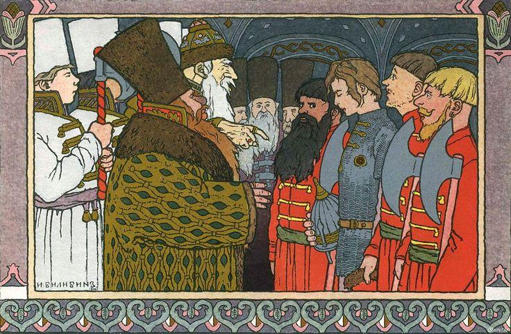 イワン・ビリービン Ivan Bilibin_Билибин イワン王子と火の鳥と灰色オオカミ_Prince Ivan, The Firebird and the Grey Wolf_06