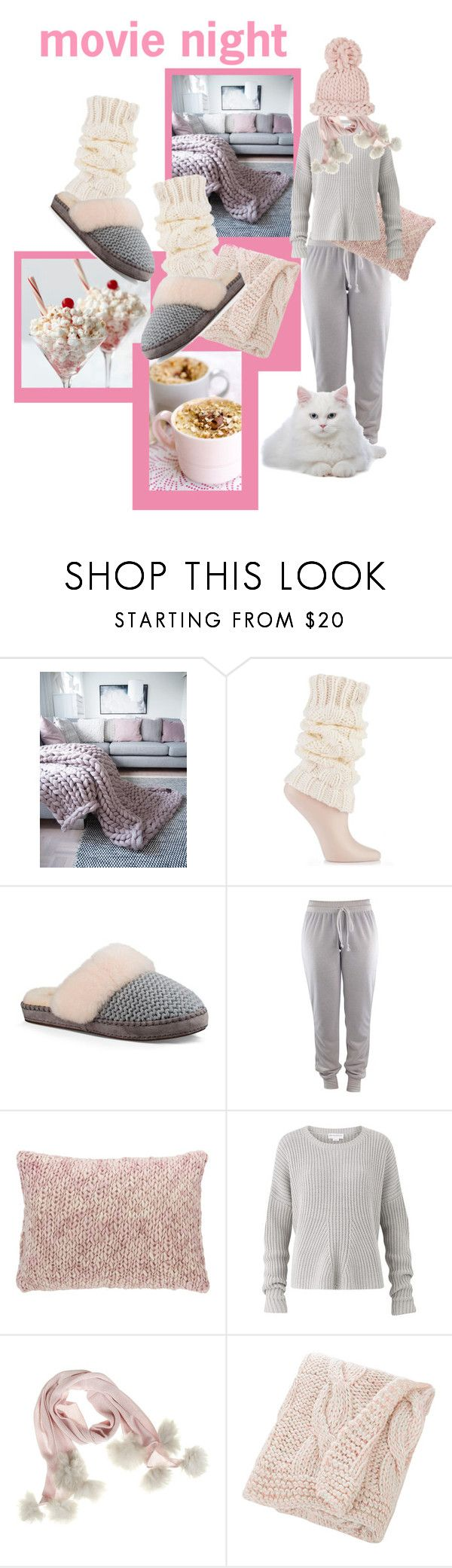 """""""Bring The Popcorn: Movie Night!"""" by lheijl ❤ liked on Polyvore featuring Wilton, UGG, Pine Cone Hill, Amanda Wakeley, Samantha Holmes, Bloomingville and Barneys New York"""