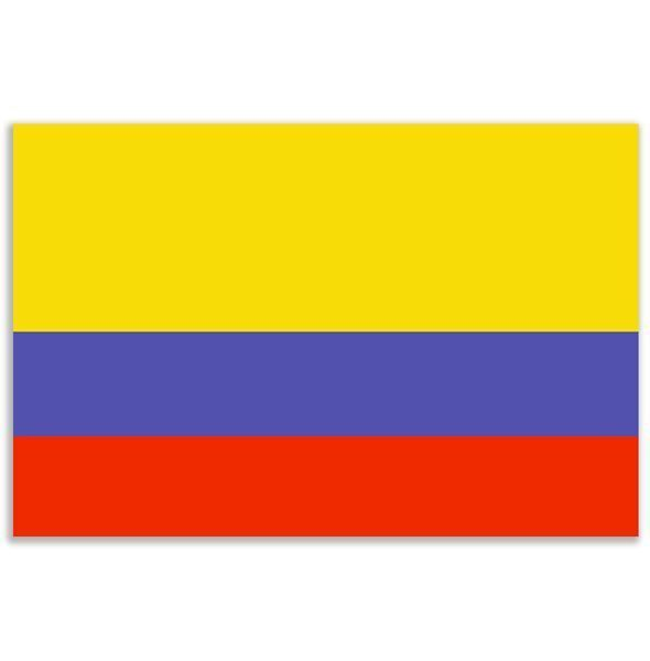 LARGE COLOMBIA COLUMBIA COLOMBIAN FLAG 5X3FT 5'X3' EYELETS FOR HANGING in Collectables, Flags, Other Flags | eBay