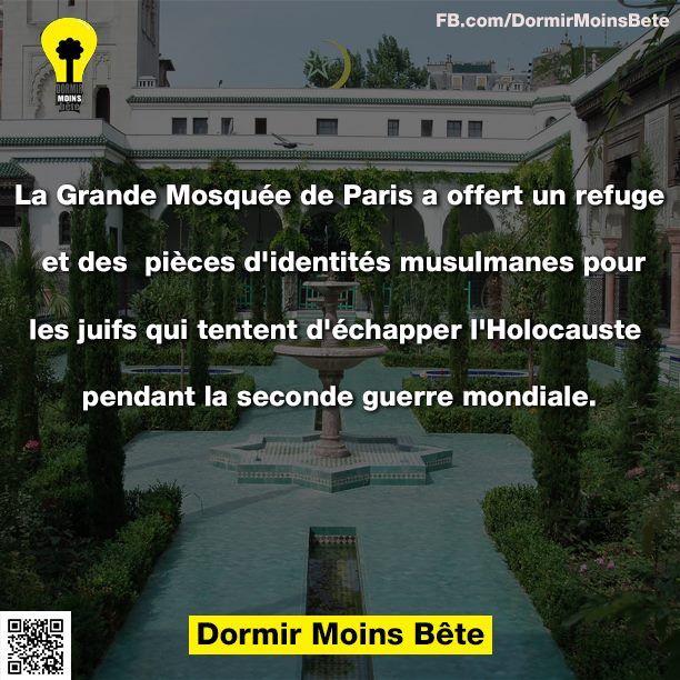 La grande mosquée de Paris a offert un refuge et des pièces d'identités musulmanes aux juifs qui tentaient d'échapper l'Holocauste pendant la seconde guerre mondiale.