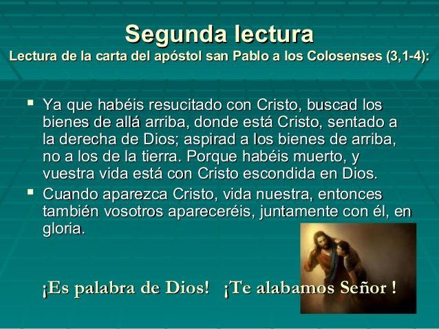Resultado de imagen para Pablo a los Colosenses (3,1-4)