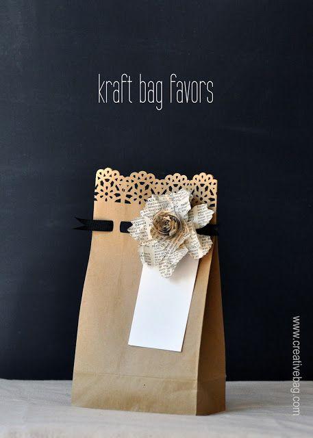 sacchetti di carta per favori da Bag creativo sul blog Bag Creativo