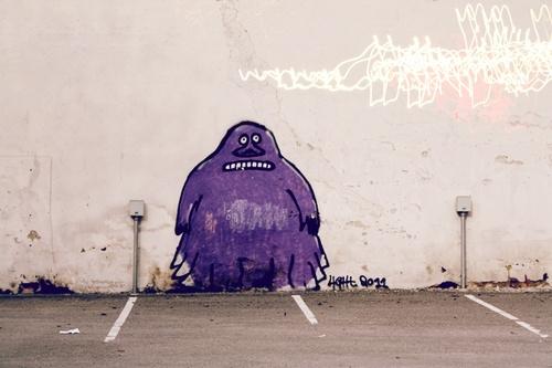 Groke graffiti